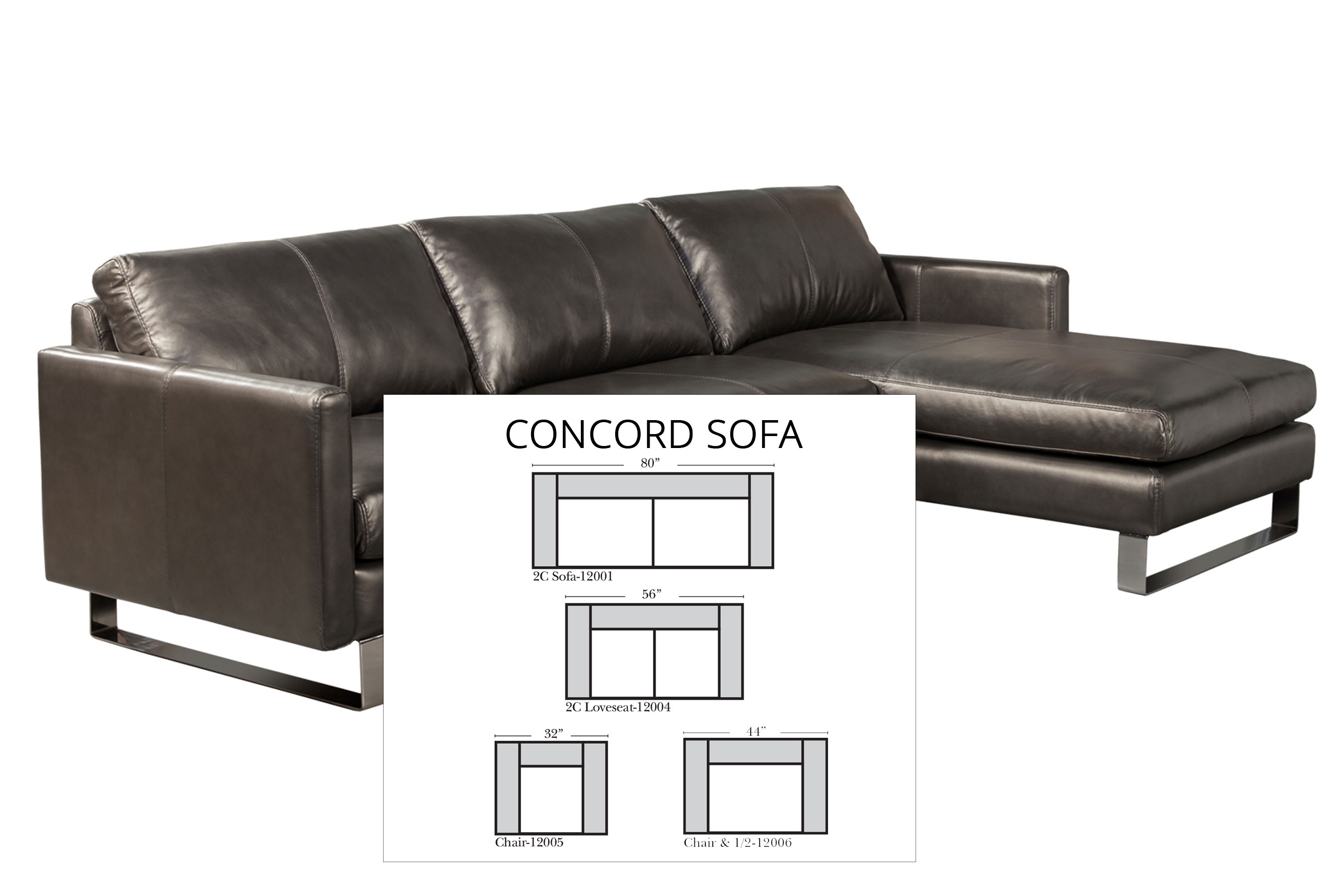Swell Concord 80 Sofa All Leather Sofas And Sectionals Ocoug Best Dining Table And Chair Ideas Images Ocougorg