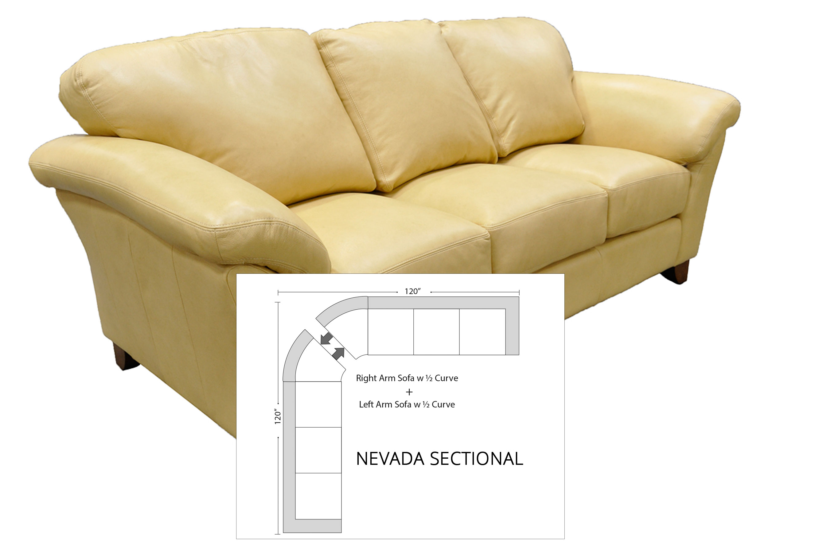 Awesome Nevada Sectional All Leather Sofas And Sectionals Caraccident5 Cool Chair Designs And Ideas Caraccident5Info