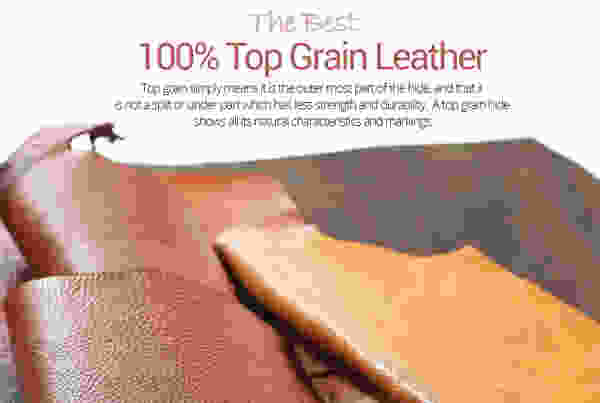 Garbo C010 **100% Top Grain Leather** Sleeper Sectional