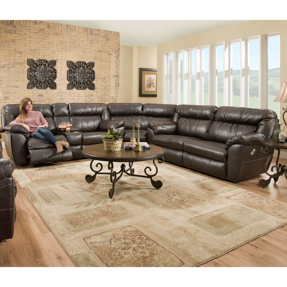 Lewis (751) 3 Piece Reclining Sectional | Sofas and Sectionals