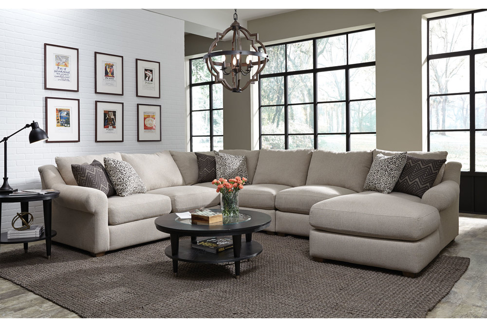The Ellie 891 Sectional By Franklin Is A Simple, Traditional Sectional That  Can Add Plenty Of Seating And Comfort To Your Space Without Causing A  Drastic ...