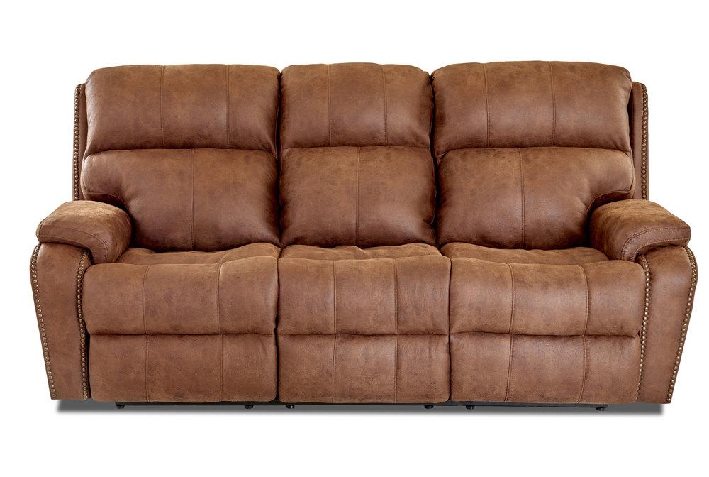 "Averett 88"" Reclining Sofa w Power"