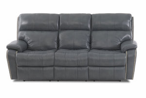 "Averett 88"" Leather Match Reclining Sofa w/ Optional Power Headrest and Power Lumbar"