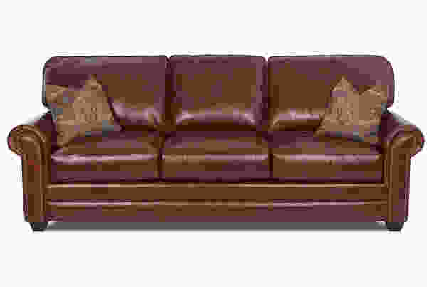 Epic Extra Large 102 All Leather Sofa W Down Cushions