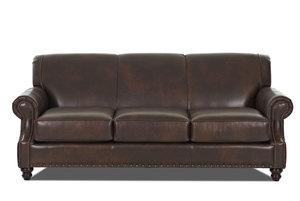 Fremont 87 All Leather Sofa W Nailheads
