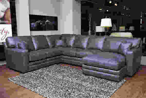 Homestead 100 top grain leather sectional sofas and for Sectional sofas 100 leather