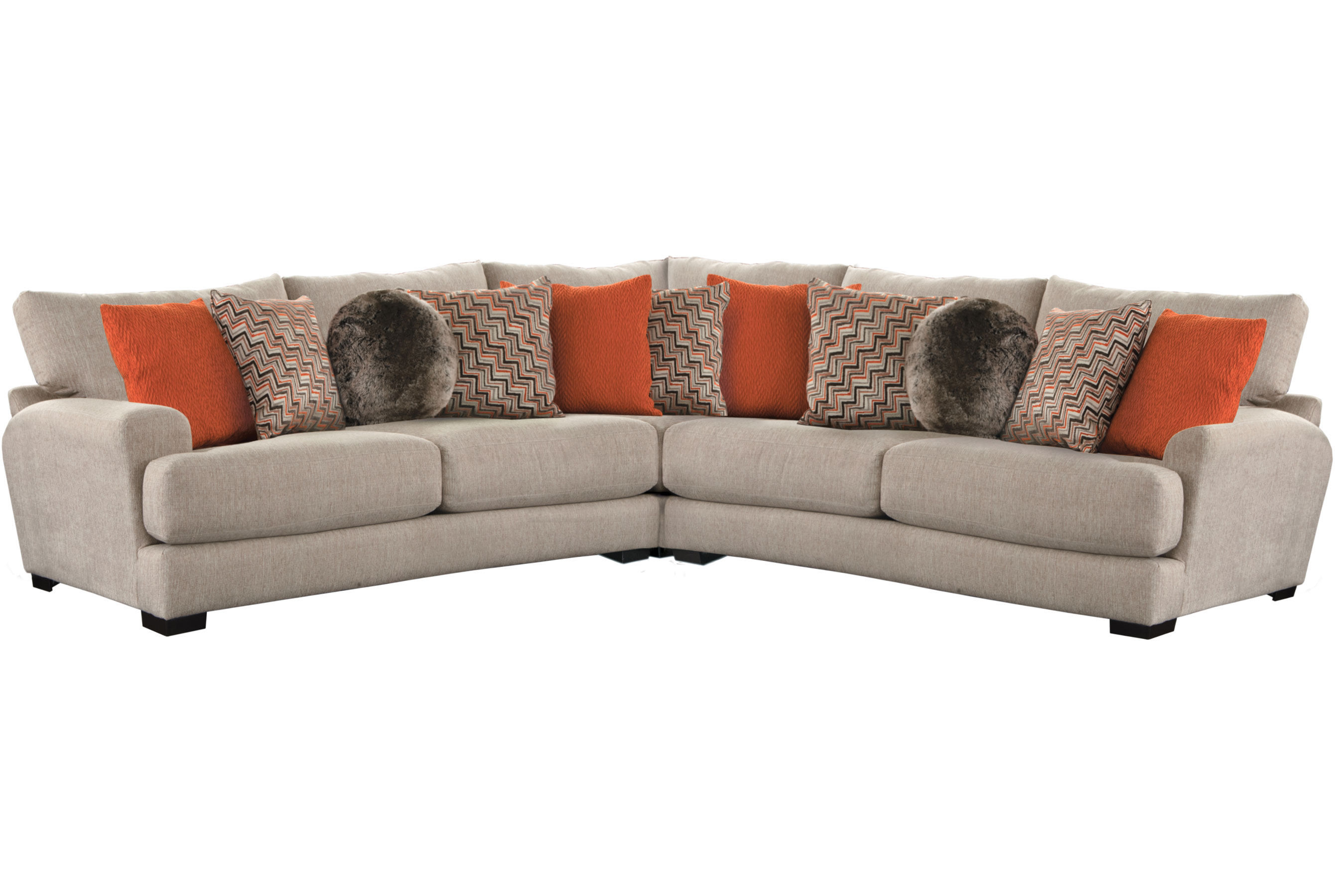 Strange Ava 3 Piece Sectional Includes Pillows Sofas And Inzonedesignstudio Interior Chair Design Inzonedesignstudiocom