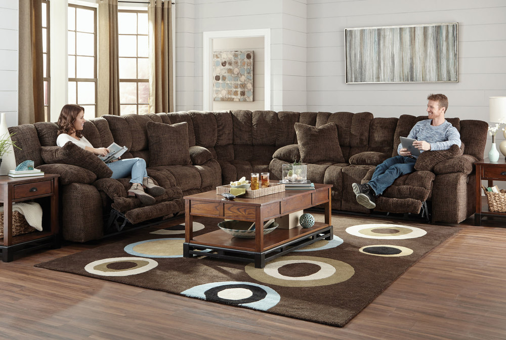 Branson 3 Piece Reclining Sectional w/ Extended | Sofas and Sectionals