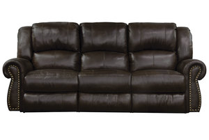 "Messina 90"" Power Headrest Reclining Sofa w/ Power Lumbar Option"