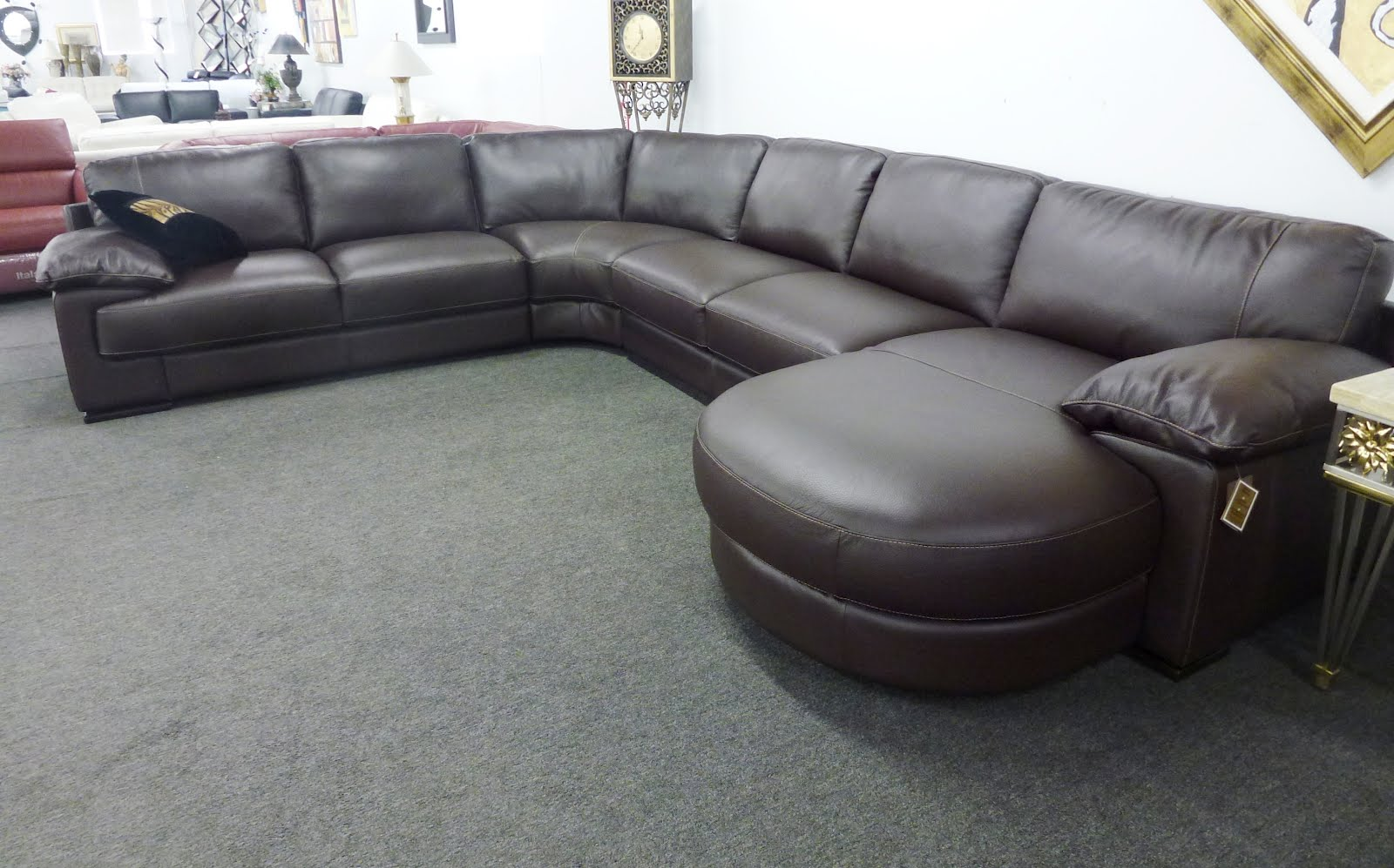 Dante B684 **100% Top Grain Leather** Sectional | Sofas and ...