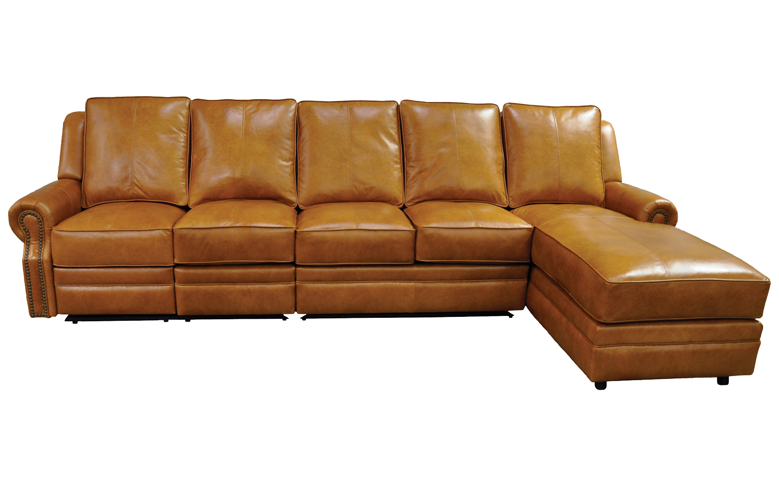 - Capistrano Reclining Sectional (All Leather) Sofas And Sectionals