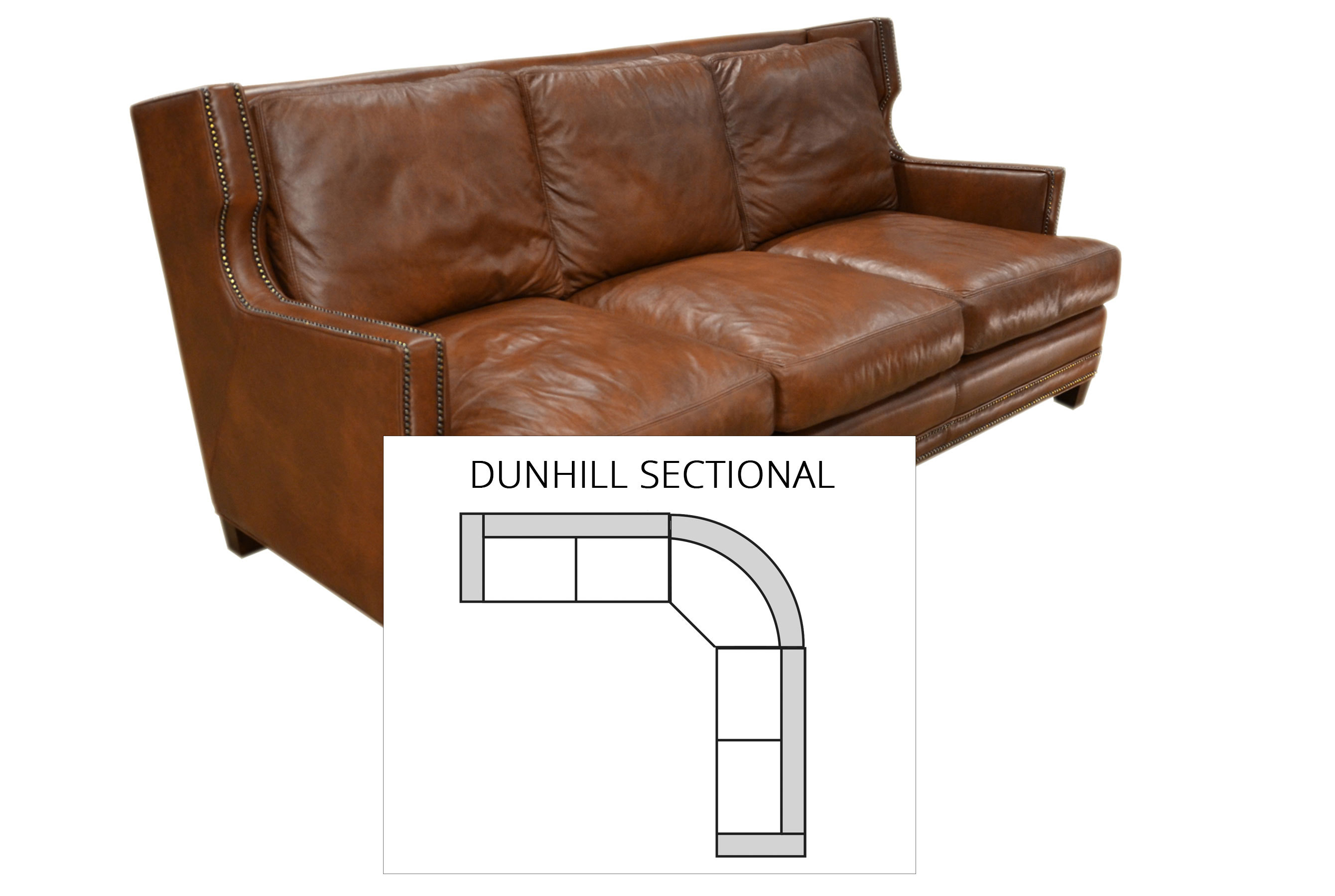 Dunhill Sectional All Leather Sofas And Sectionals
