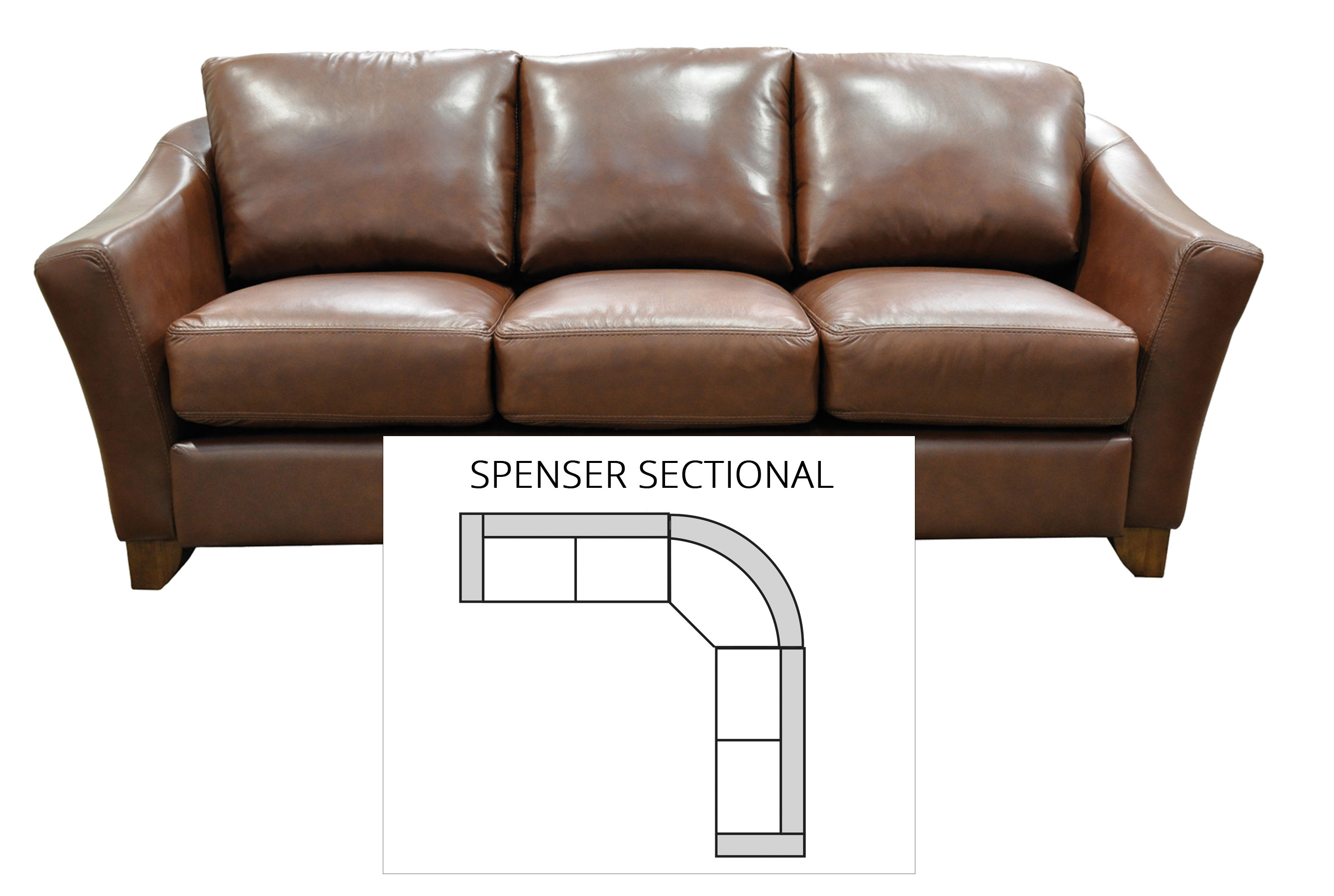 Enjoyable Spencer Sectional All Leather Sofas And Sectionals Inzonedesignstudio Interior Chair Design Inzonedesignstudiocom