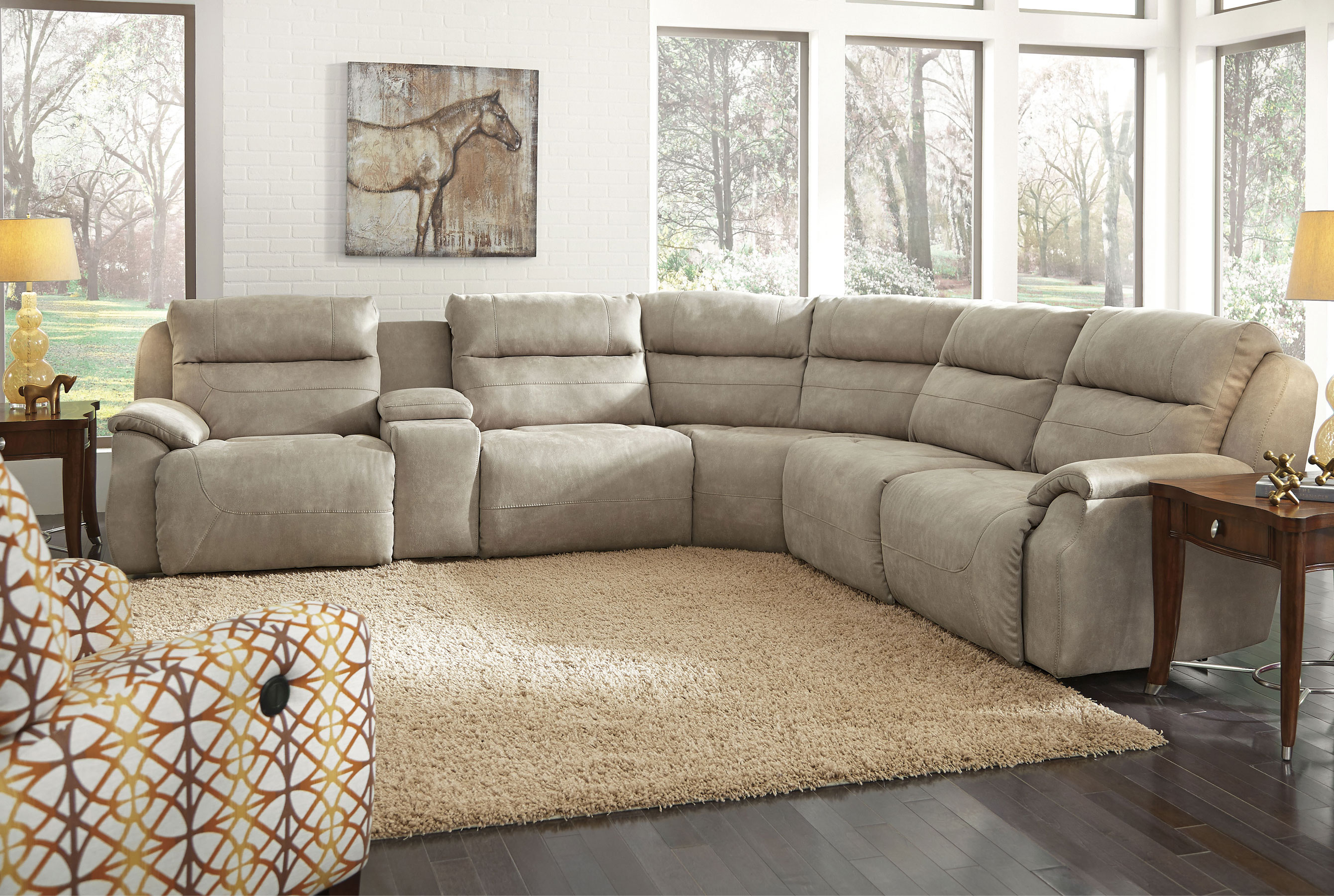 Five Star 512 Reclining Sectional W Power Sofas And Sectionals
