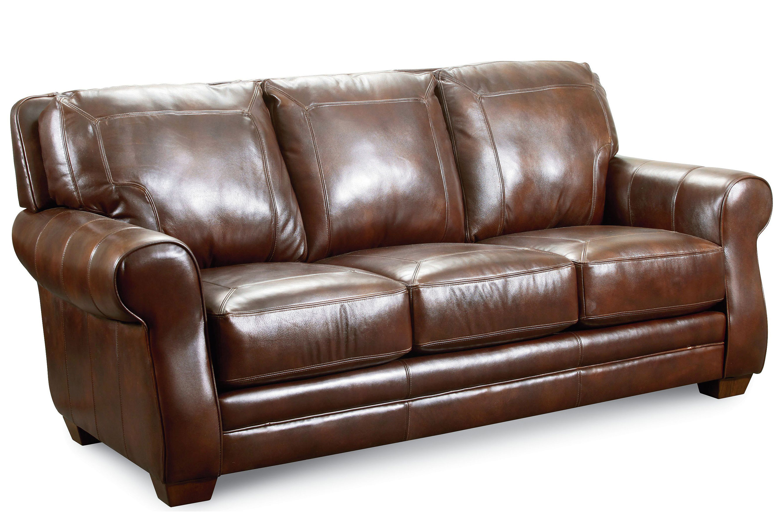 Bowden 84u0026quot; Leather 548 Sofa. By Lane