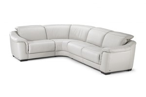 Abele B641 100 Top Grain Leather Reclining Sectional By Natuzzi Editions