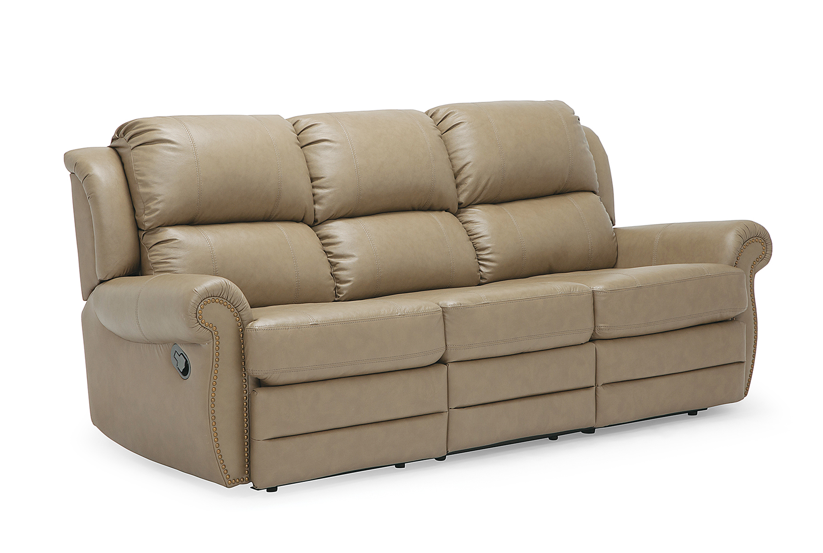 Michigan Leather Reclining Sofa, Classic | Sofas and Sectionals