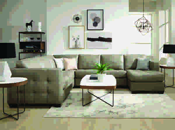 Barrett 77558 - 70558 Sectional- 450 Fabrics and Leathers