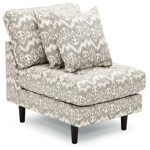 Ava Armless Chair (Choice of Fabrics)