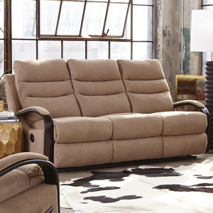 Jansen Reclining Sofa in Tumbleweed