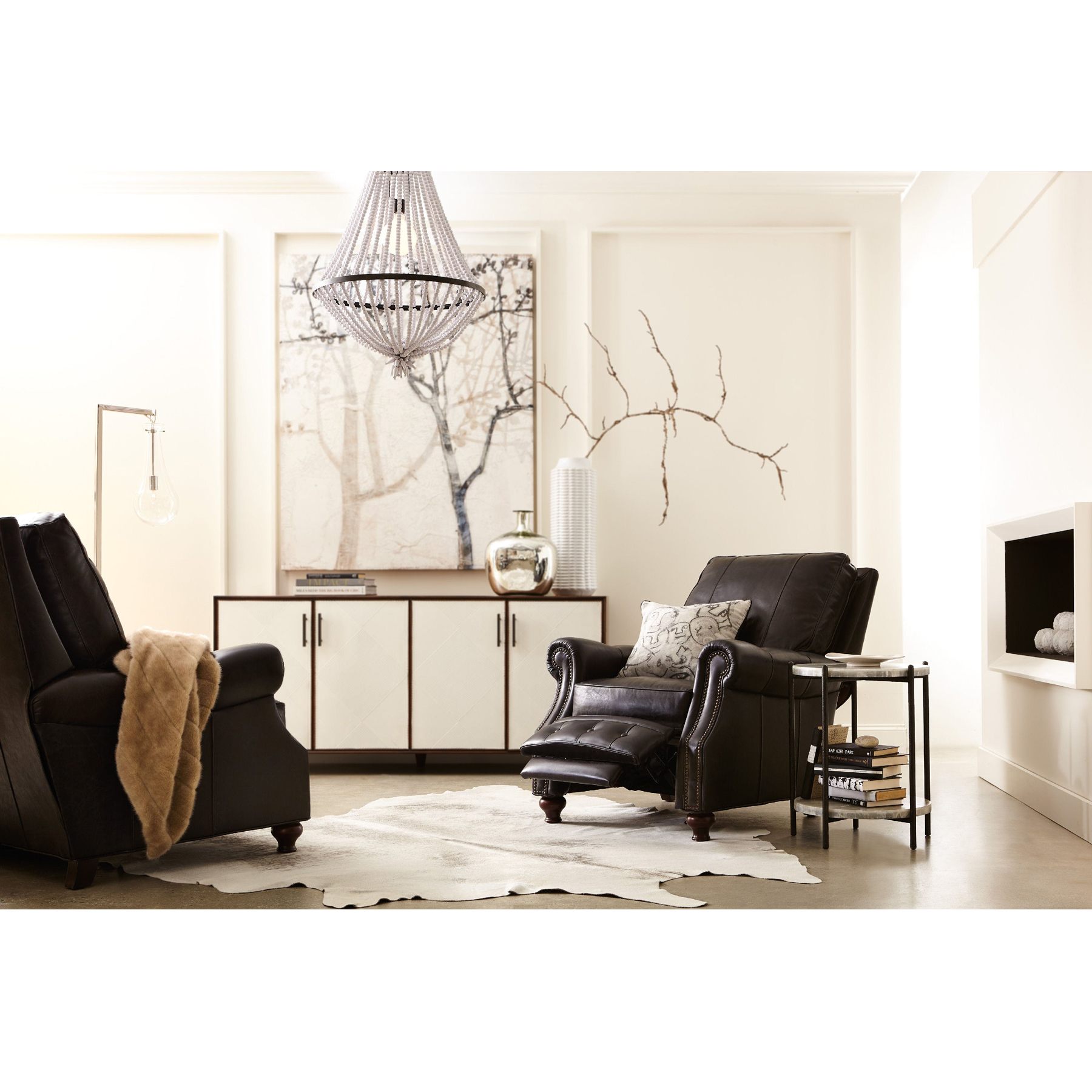 Awesome Winslow Leather Recliner W Nailhead Trim Sofas And Sectionals Gmtry Best Dining Table And Chair Ideas Images Gmtryco