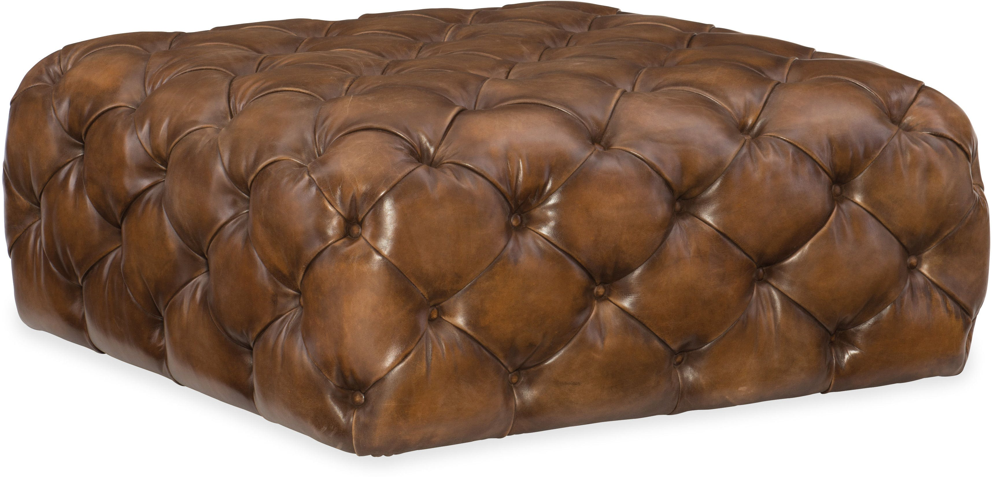 Ethan Leather 41 Square Ottoman Sofas And Sectionals