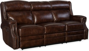 Hooker Carlisle Leather Power Motion Sofa w/Pwr Headrest