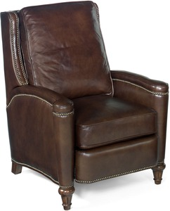 Rylea All Leather Recliner w/ Nailhead Trim