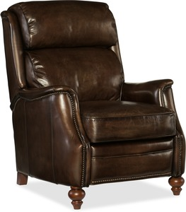 Allen All Leather Recliner w/ Nailhead Trim