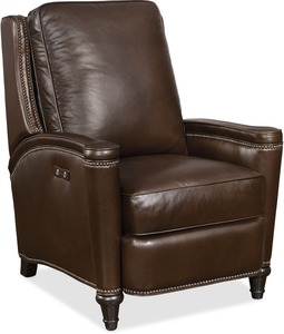 Collin All Leather Recliner w/ Nailhead Trim