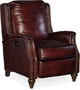 Bran All Leather Power Recliner with Power Headrest