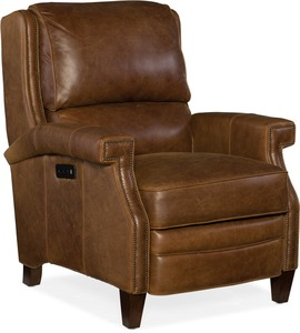 Elan All Leather Power Recliner with Power Headrest
