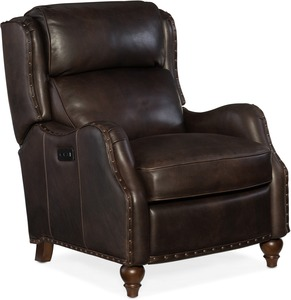 Tutor All Leather Power Recliner with Power Headrest