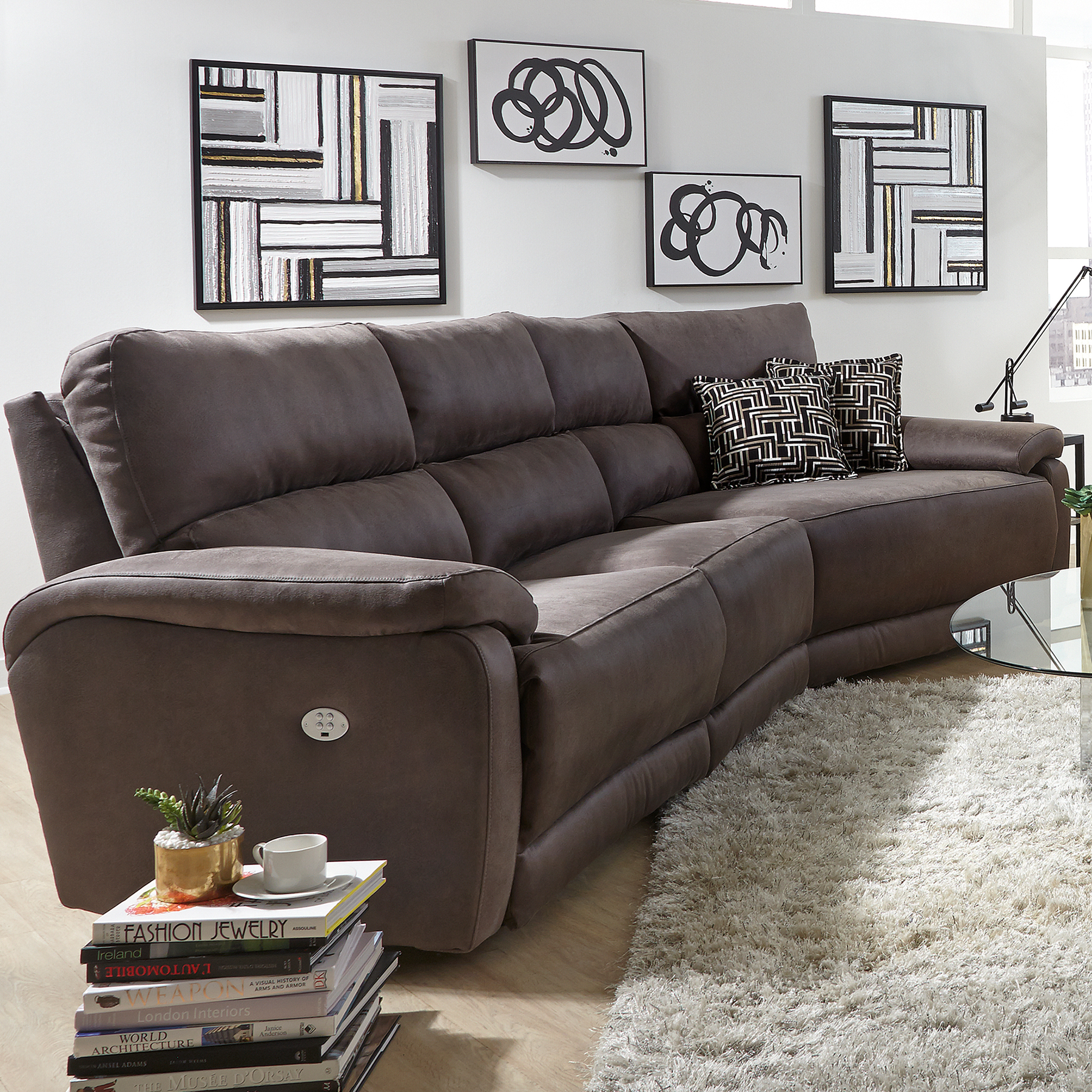 Top Secret Reclining Sectional W Power Sofas And Sectionals