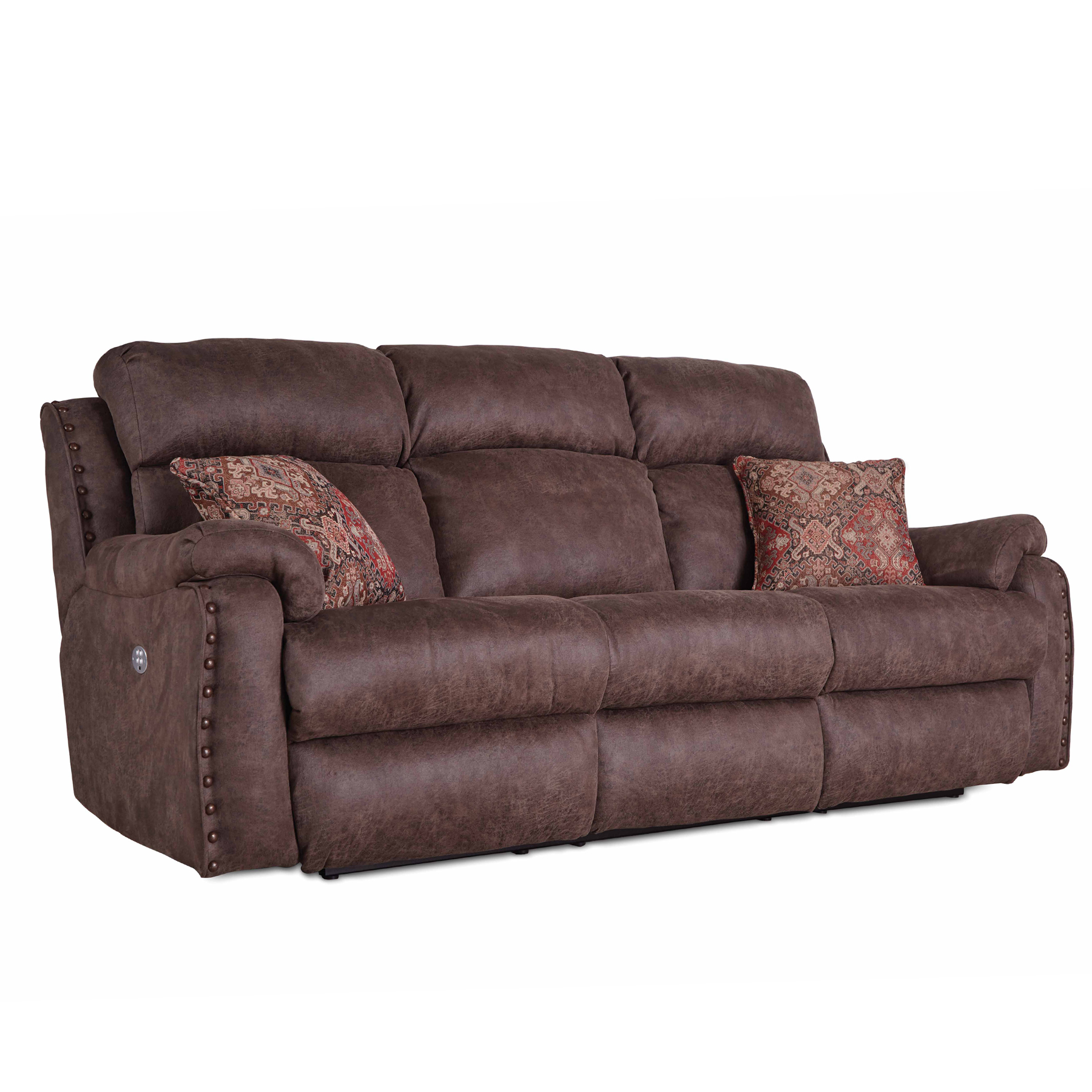 Blue Ribbon Double Reclining Sofa w/ Power | Sofas and Sectionals