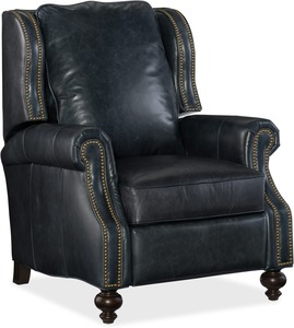 Drake All Leather Recliner w/ Nailhead Trim