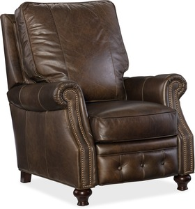 Winslow All Leather Recliner w/ Nailhead Trim