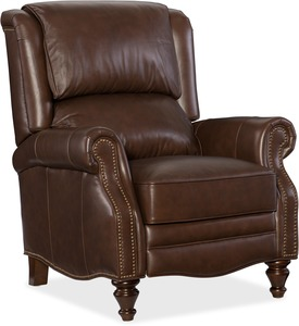 Clark Club Style Recliner w/ Nailhead Trim