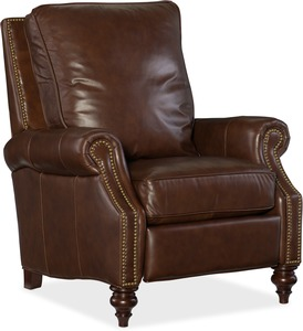 Conlon All Leather Recliner w/ Nailhead Trim