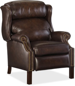 Finley Wing Back Leather Recliner