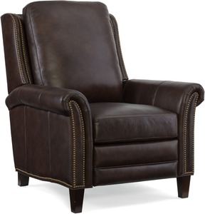 Fendi Leather Recliner w/ Nailhead Trim