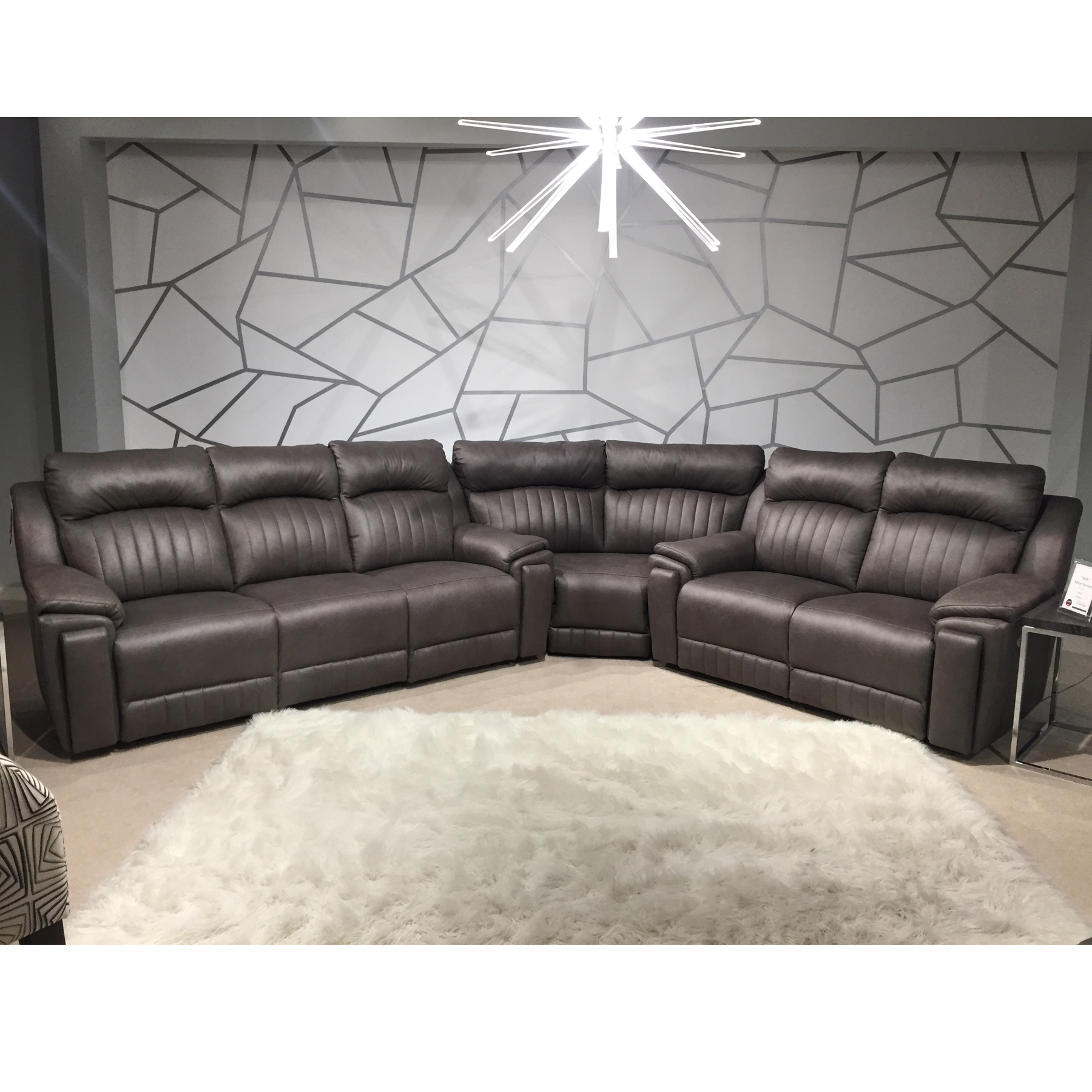 Silver Screen Reclining Sectional W Hidden Arm Sofas And