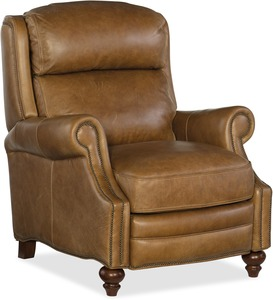Ashton All Leather Recliner w/ Nailhead Trim