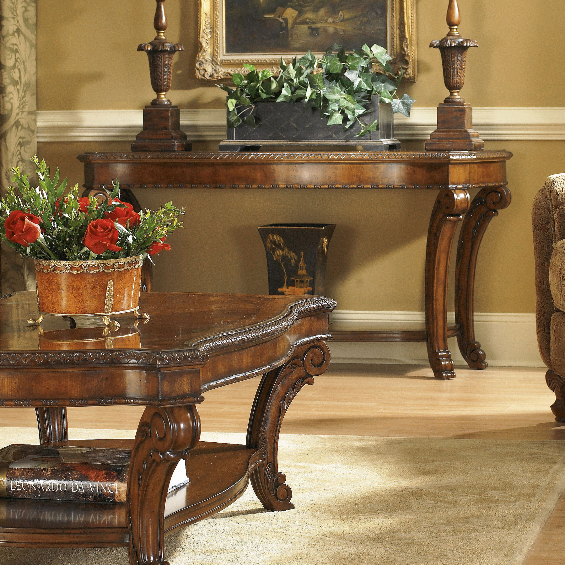 Fantastic Old World Sofa Table 143307 2606 Sofas And Sectionals Machost Co Dining Chair Design Ideas Machostcouk