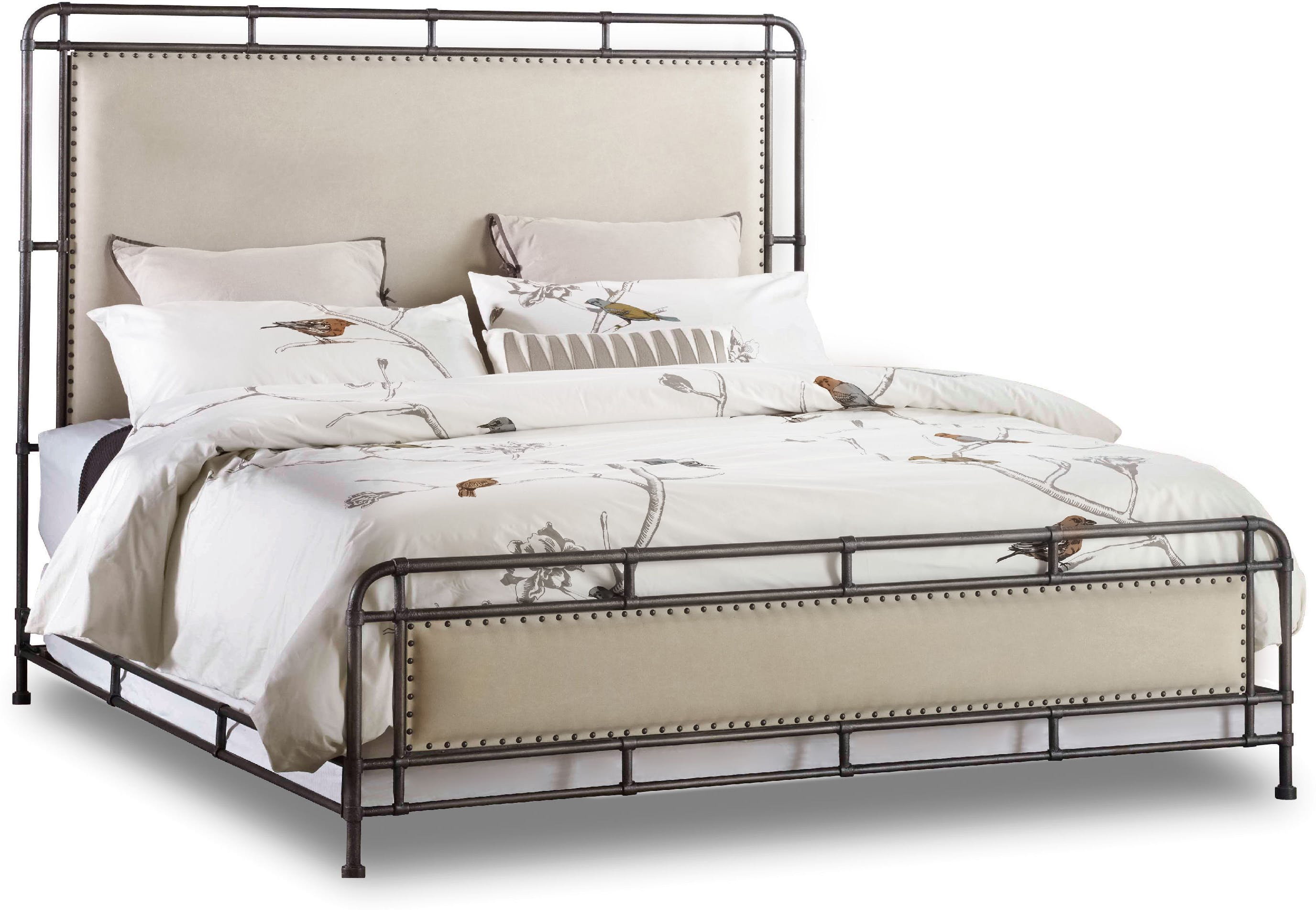 Studio 7h Slumber Queen Metal Upholstered Bed Sofas And Sectionals
