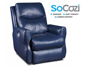 Fame Rocker Recliner w/ Heat + Massage + Lumbar + Free Power Headrest