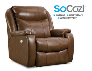 Hercules Wallhugger Big Man's Recliner +  Massage + Heat + Lumbar + Free Power Headrest