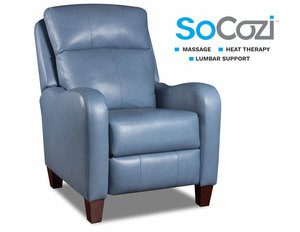 Prestige Recliner w/ Heat + Massage + Lumbar + Free Power Headrest