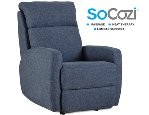 Primo Rocker Recliner w/ Heat + Massage + Lumbar + Free Power Headrest