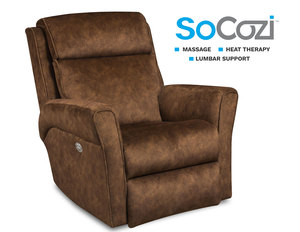 Radiate Rocker Recliner w/ Heat + Massage + Lumbar + Free Power Headrest